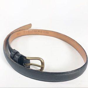 Coach leather skinny belt Navy 2800 size 30